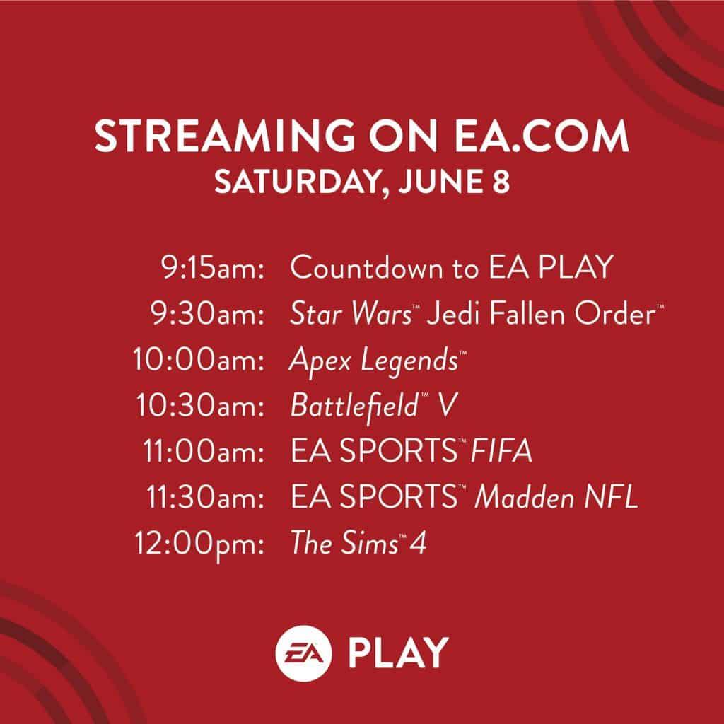 E3 EA Play