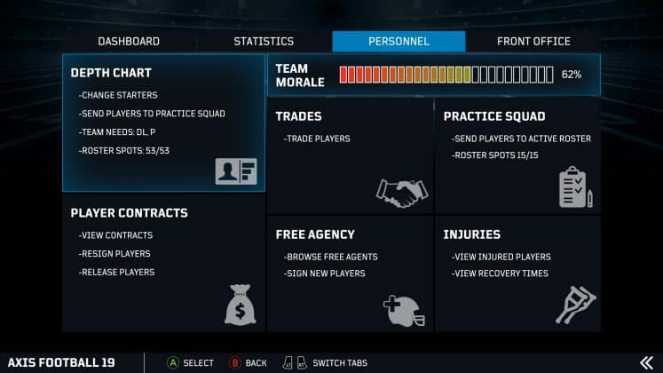 Axis Football 19 Franchise