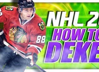 NHL 20 How To Deke