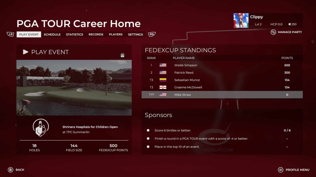 PGA Tour 2K21 Preview Career Mode