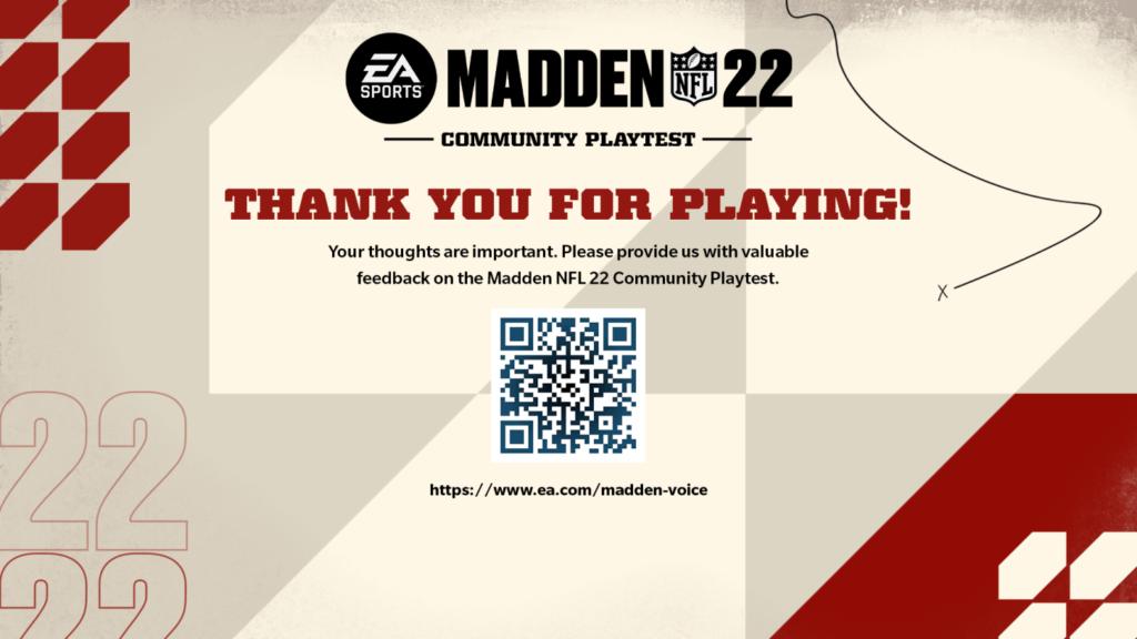 Test de la communauté Madden 22