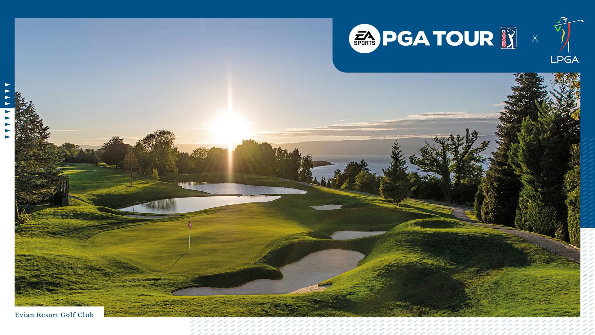Evian Resort Golf Club in Évian-les-Bains in EA Sports PGA Tour LPGA
