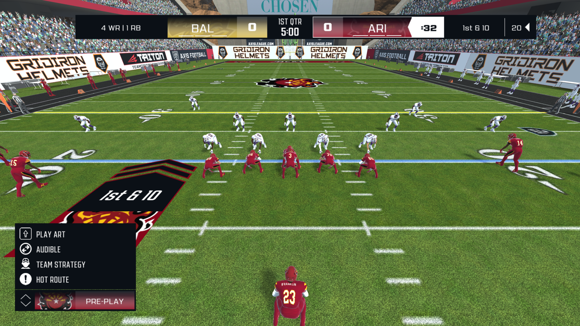 Axis Football 21 gameplay