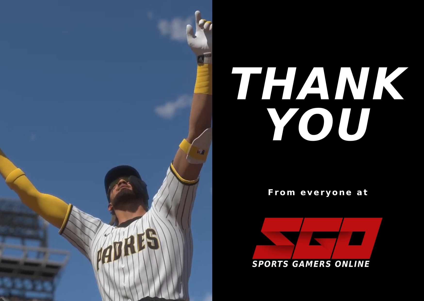 Sports Gamers Online Thank You