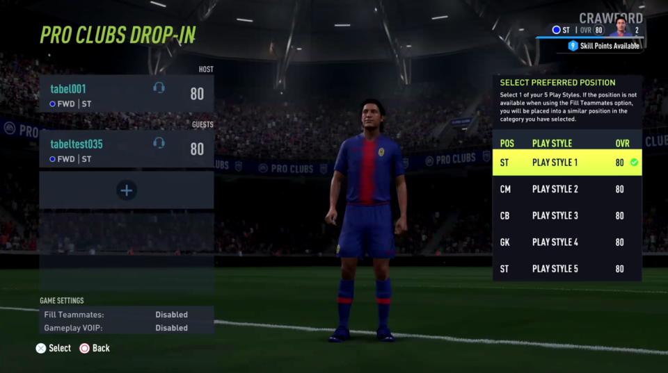 FIFA 22 Pro Clubs